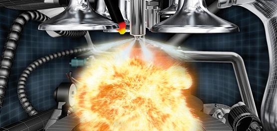 Bild einer sauberen Verbrennung im Motor